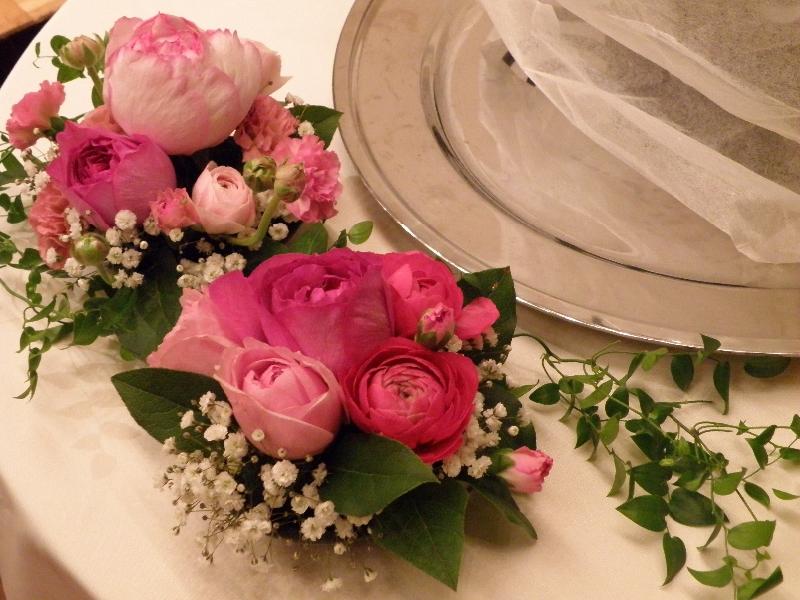 - ケーキ装花 -